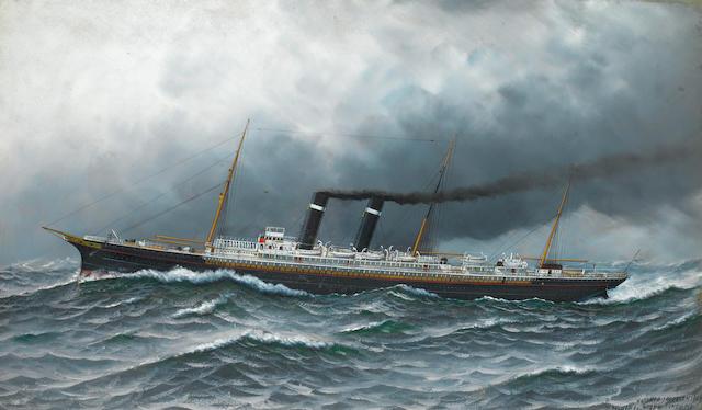 Antonio Jacobsen, 1909 - The New York in heavy seas