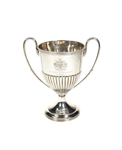 A large silver trophy cup, HMS Eagle 7.5ins (19cm)diam. 53 oz.