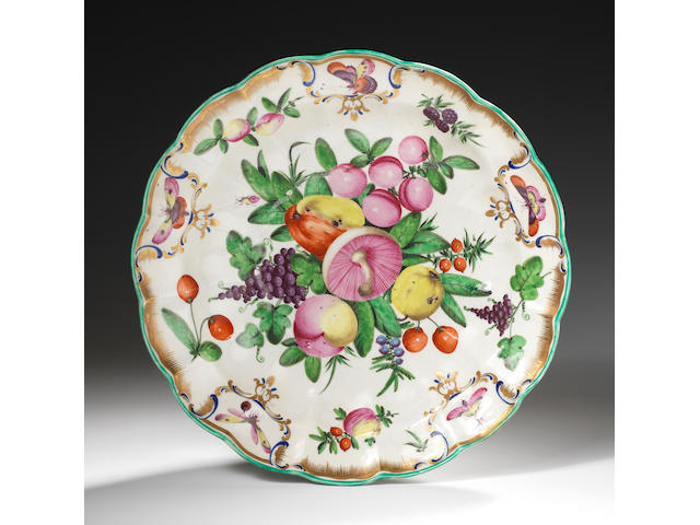 A Worcester circular dish from the Duke of Gloucester service, circa 1775