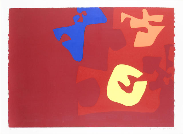 Patrick Heron (British, 1920-1999) Untitled (from the Rothko Portfolio)  Screenprint printed in colours, 1972, on wove, signed, dated and numbered 21/75, printed by Kelpra Studio, London, 577 x 810mm (22 3/4 x 31 7/8in)(I)