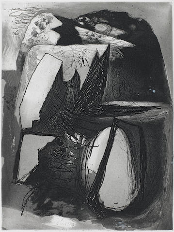 Graham Sutherland O.M. (British, 1903-1980) Clegyr-Boia II (Landscape in Wales)(Tassi 34) Etching with aquatint, 1936, an unsigned proof, no edition was printed,  202 x 150mm (8 x 5 7/8in)(PL)(unframed) CHECK OTHER CATALOGUE_ EDITION OF 100?? 37, Mann