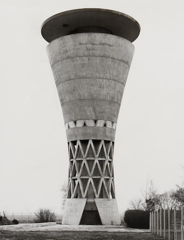 Bernd and Hilla Becher (German) Water Tower, Essen Byfang, D 1980 1993  gelatin silver print 58 by 49 cm.  22 3/4 by 19 5/16 in. This work was executed in 1993 and is number 2 from and edition of 5.