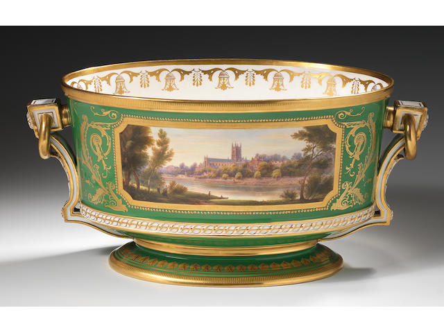 The Churchill Vase, an important Royal Worcester presentation urn by Harry Davis, made in 1950