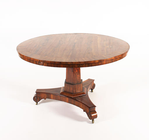 A William IV goncalo alves breakfast table