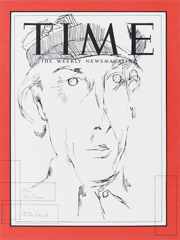 Richard Hamilton - Self portrait on Time Magazine, screenprint, prov - gift from the artist to the present owner