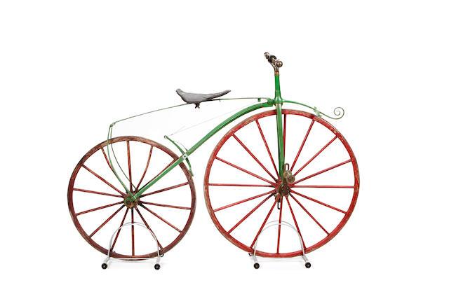 A Michaux style velocipede, late 1860s,