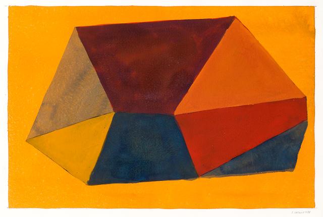 Sol LeWitt (American, 1928-2007) Geometric Shape, No. 9 1988