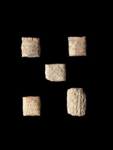 Five cuneiform tablets