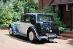Offered from the estate of Mike Berry,1936 Rolls-Royce 25/30hp Sports Saloon  Chassis no. GXM43 Engine no. C25B