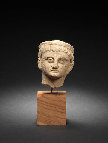 A Cypriot limestone head