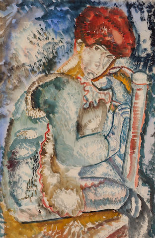 Frances Hodgkins (New Zealand 1869-1947) Boy on a Chair