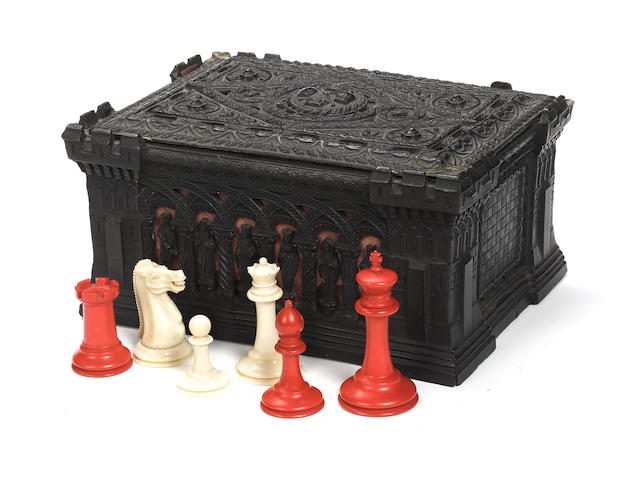 A Staunton ivory chess set, Jaques London, circa 1865-70,