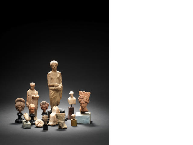 A group of ten Classical terracottas and three other terracottas, 13
