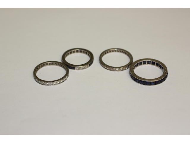 Four eternity rings,