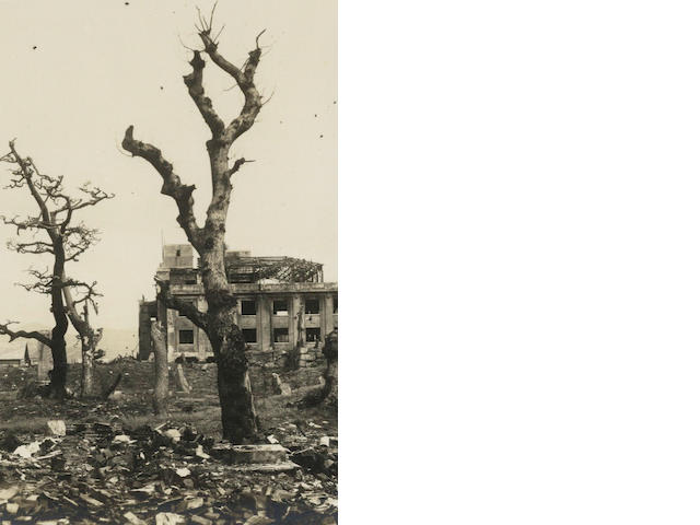 HIROSHIMA Two albums, predominantly of Japan, compiled by a crew member of the Naval victualling ships Fort Constantine and Fort Beauharnois