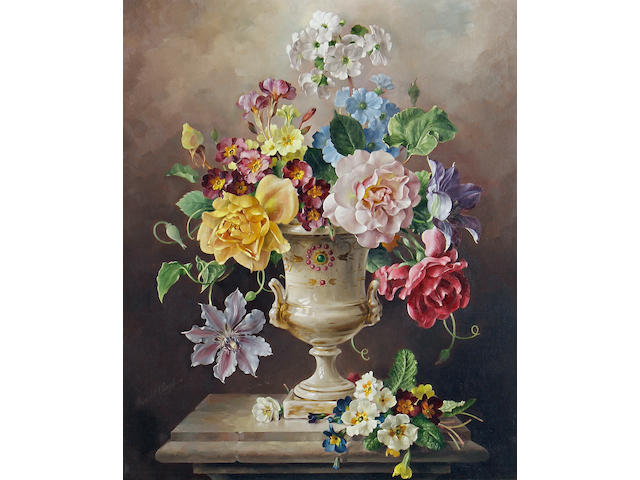Harold Clayton (British, 1896-1979) Flowers in a vase 51 x 41 cm. (20 x 16 in.)