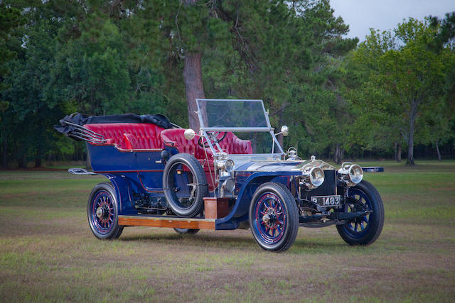 ex-Richard Solove and John M. O'Quinn Collections, one of only five surviving 1908 Silver Ghosts,1908 Rolls-Royce 40/50hp Silver Ghost Roi-des-Belges  Engine no. 60747 (see text)