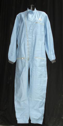 An original set of Bruce Halford's Les leston racing overalls