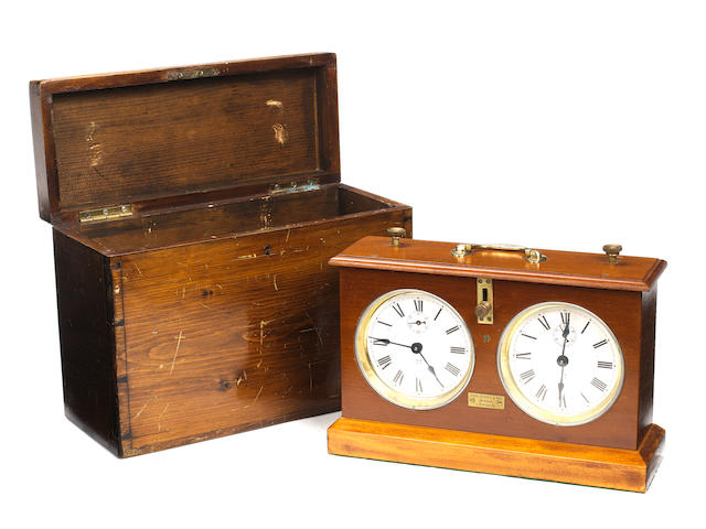 A chess timer, John Jaques & Son, London, circa 1890-1910,