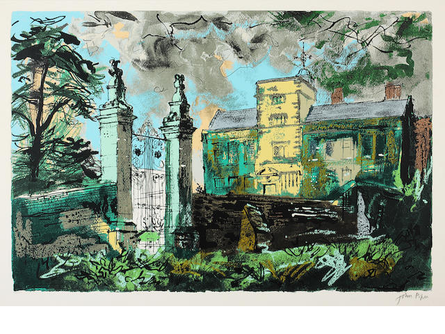 John Piper C.H. (British, 1903-1992) Canon's Ashby signed in pencil and numbered 39/150 55 x 77cm.