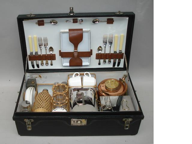 A Corracle picnic hamper,