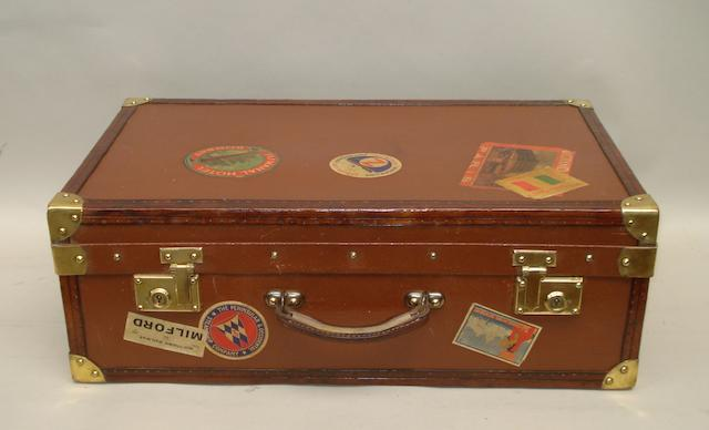 A Goyard suitcase,
