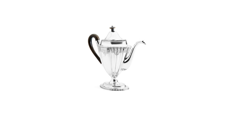 A good George III coffee pot By Peter and Anne Bateman, London 1800