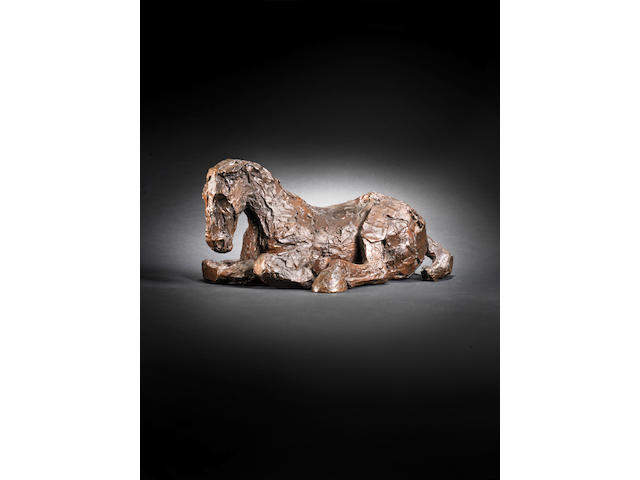 Dame Elisabeth Frink R.A. (British, 1930-1993) Horse in the Rain V