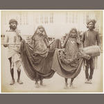 NAUTCH GIRLS A collection of 5 portraits, [c.1880] (4)