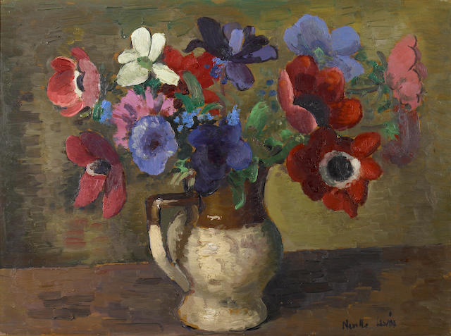 Neville Lewis, Still life of flowers