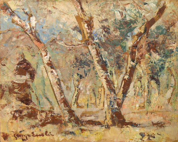George Enslin (South African, 1919-1972) Study of trees