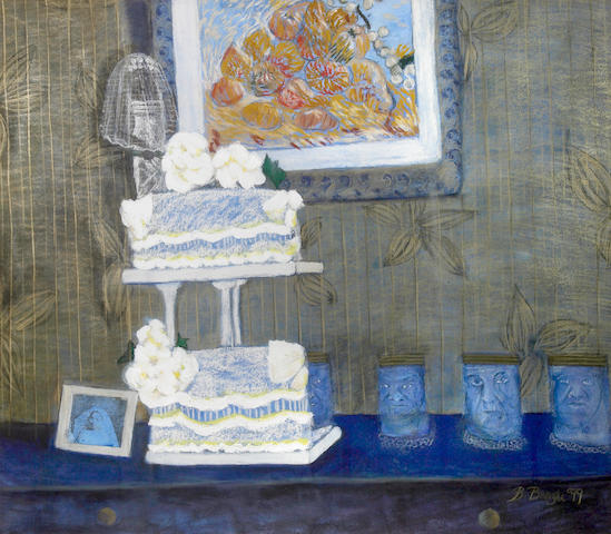 Bongi Bengu (South African, born 1970) Still life with wedding cake