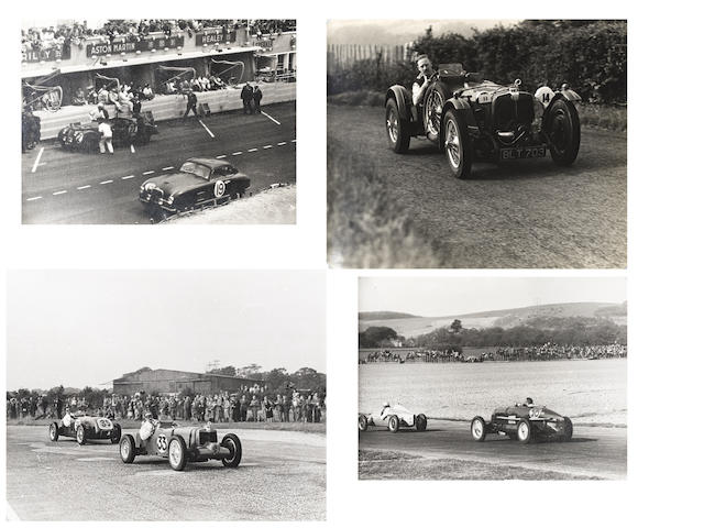 Three motosport photographic albums formerly the property of Mr Fred Hobbs,