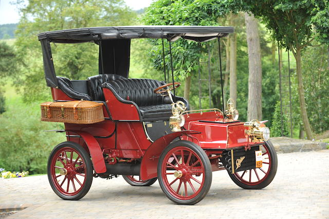 1904 Cadillac Model B  8 1/2hp Rear Entrance Tonneau with Surrey Top  Chassis no. 4777 Engine no. 4777