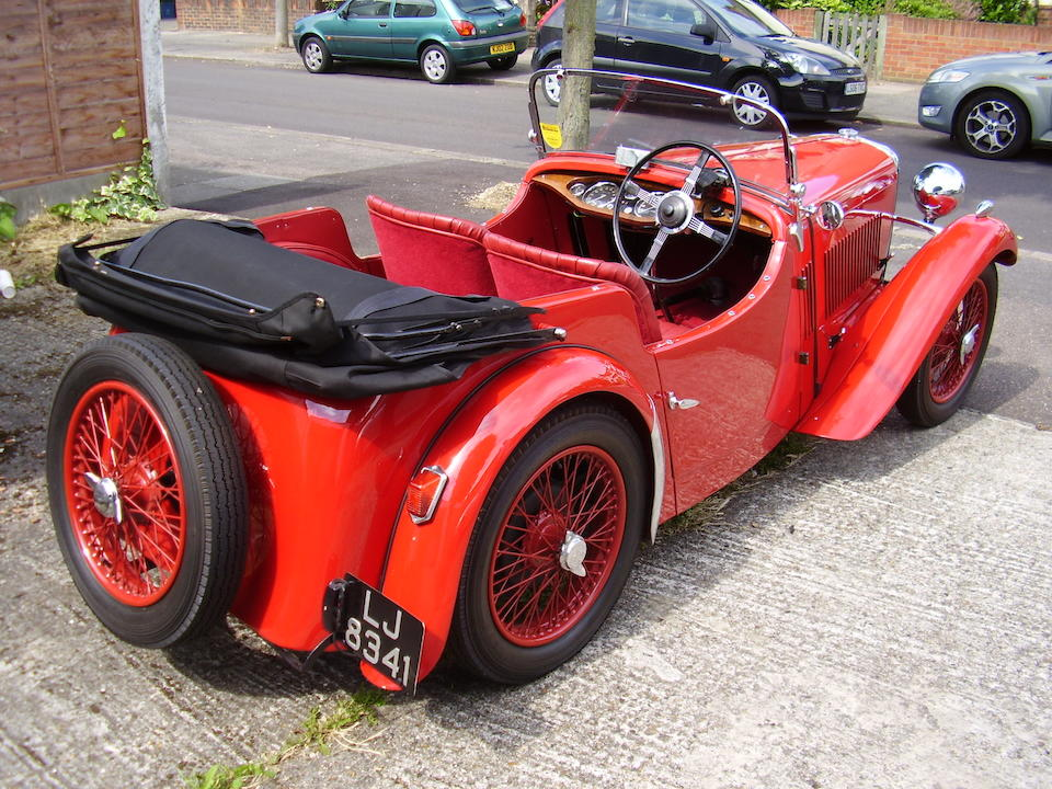 1933 Singer Nine Sports Four-Seat Tourer  Chassis no. 49998 Engine no. 51214