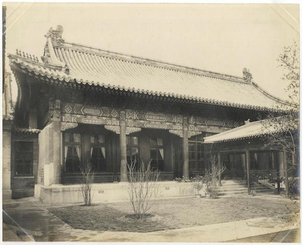 RESIDENCIES AT THE TREATY PORTS OF NEWCHWANG, NINGPO, PAGODA ANCHORAGE, PAKHOI, PEITAHO and PEKING An album of 100 interior and exterior views