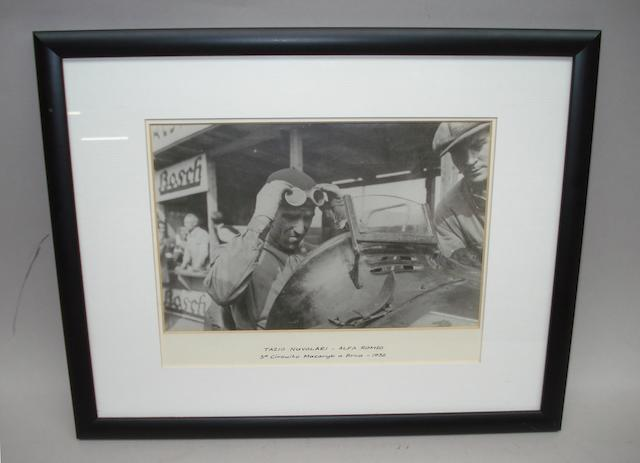 A photograph of Tazio Nuvolari by Jarrotts,