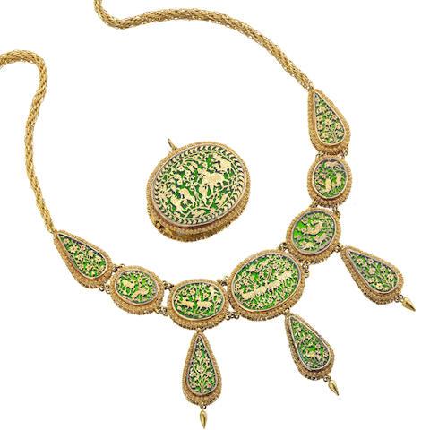 Bonhams : A suite of Victorian Petábgarh jewellery, Indian