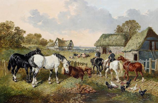 John Frederick Herring, Jnr. (British, 1815-1907) Returning home