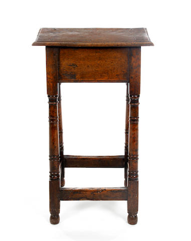 A high 17th Century style oak joint stool