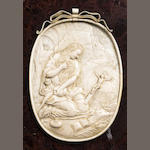 An oval panel depicting Mary Magdalene, Dieppe late 17th century