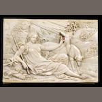 A relief of Diana with hounds