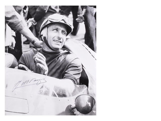 Signed Fangio photo