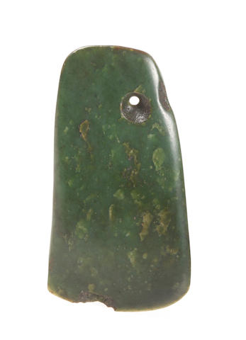 A Maori nephrite (pounamu) adze blade New Zealand 20cm long