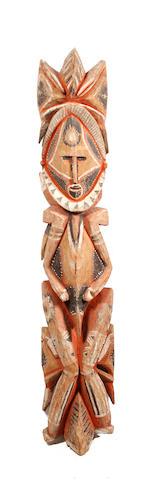 A Wosera ancestor figure Maprik Hills, Papua New Guinea 122cm high