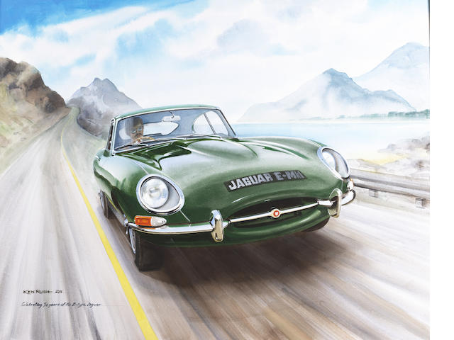 Ken Rush (1931 - ); Celebrating 50 Years of the E-type Jaguar,