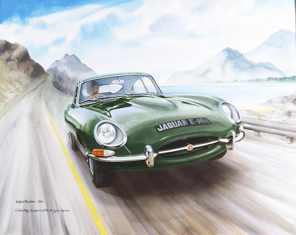 Ken Rush (1931 - ); Celebrating 50 Years of the E-type Jaguar,