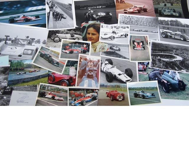 Assorted motorsports photographs and ephemera,