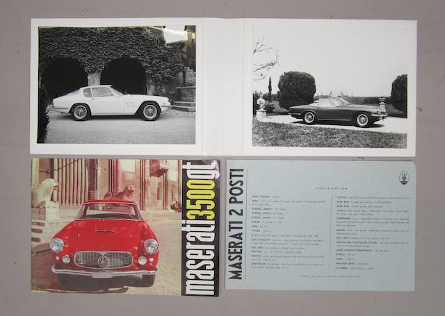 A Maserati 3500GT sales brochure
