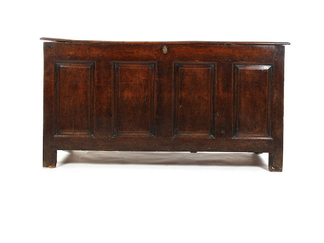 An early 18th century oak coffer